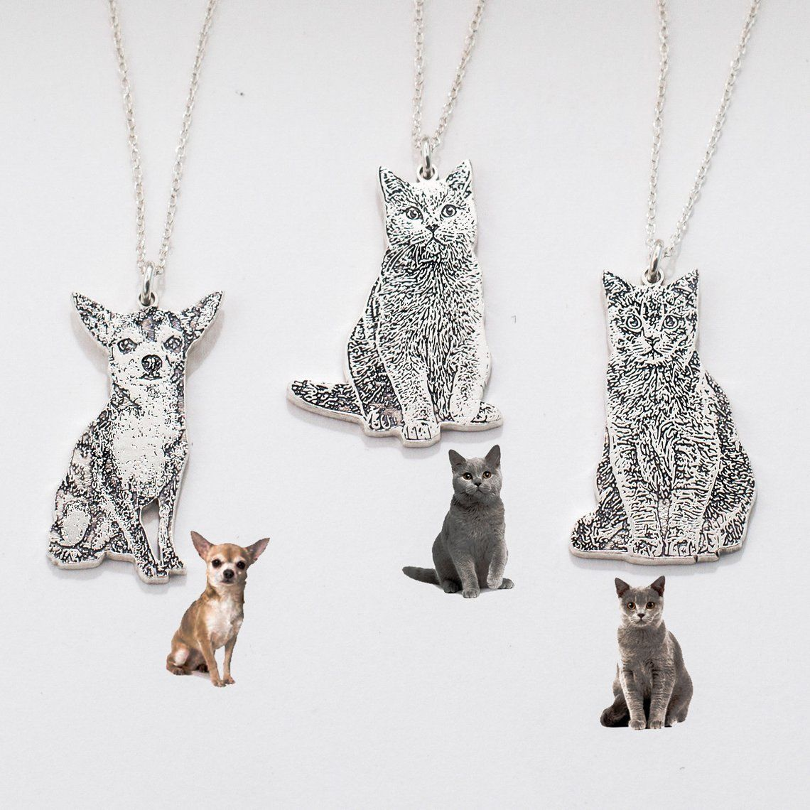 pet name necklace personalized gift Sterling silver cat necklace personalized name necklace pet gifts kitty necklace custom jewelry