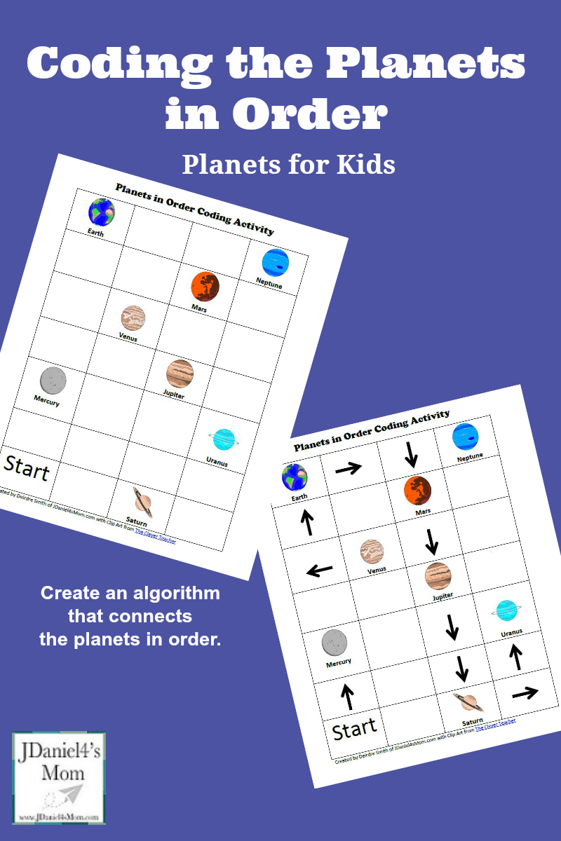 Planets for Kids: Coding the Planets in Order - Kids will