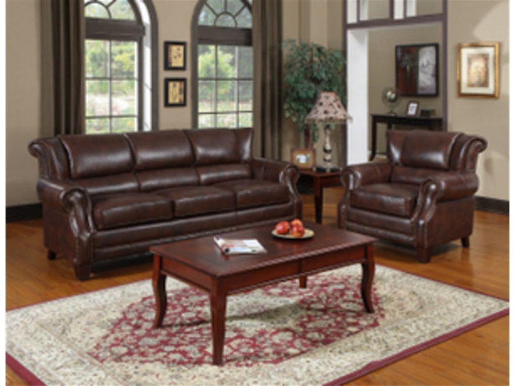 Shop For Leather Italia 2611 Devon Sofa 2951 Brown 15852611 Amusing Dining Room Furnitures Design Decoration