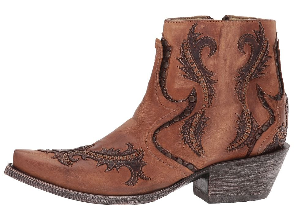 Dingo Womens Adobe Western Cowboy Boots Distressed Leather Zip Narrow Toe Red