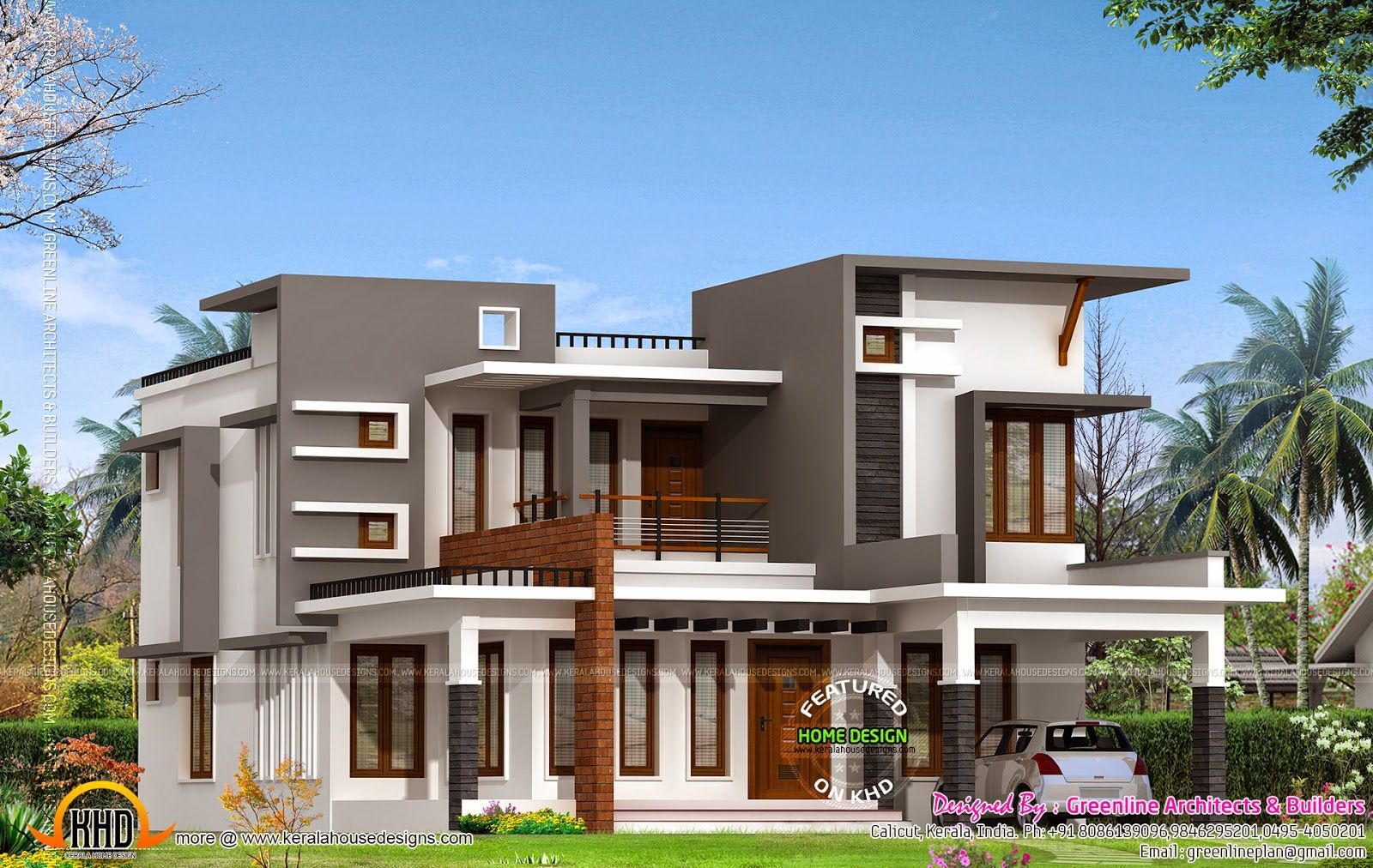 Contemporary House With Estimate Kerala Home Design And Floor Plans Villa Free Kerala House Design Indian Home Design Indian Homes