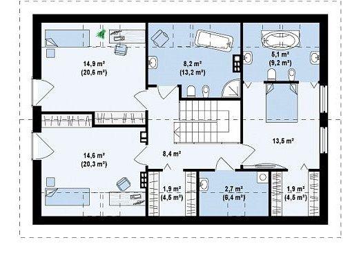 Plano de casa de 2 pisos y 3 dormitorios con medidas en metros ...