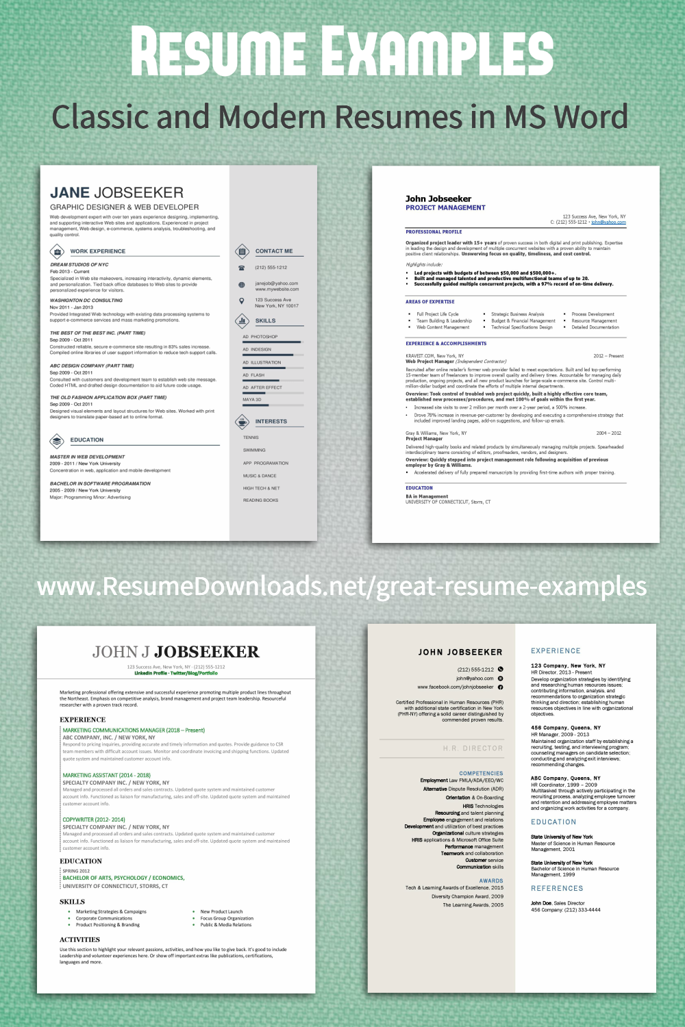 Good Resume Examples Click To Better Your Career By Getting More Interviews Resume Examples Good Resume Examples Best Resume