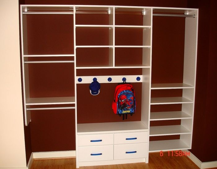 Cape Cod Closet Ideas Part - 48: Kids Reach-In Closet Reach-In Closet Reach In Closet Save Space Hanging ,