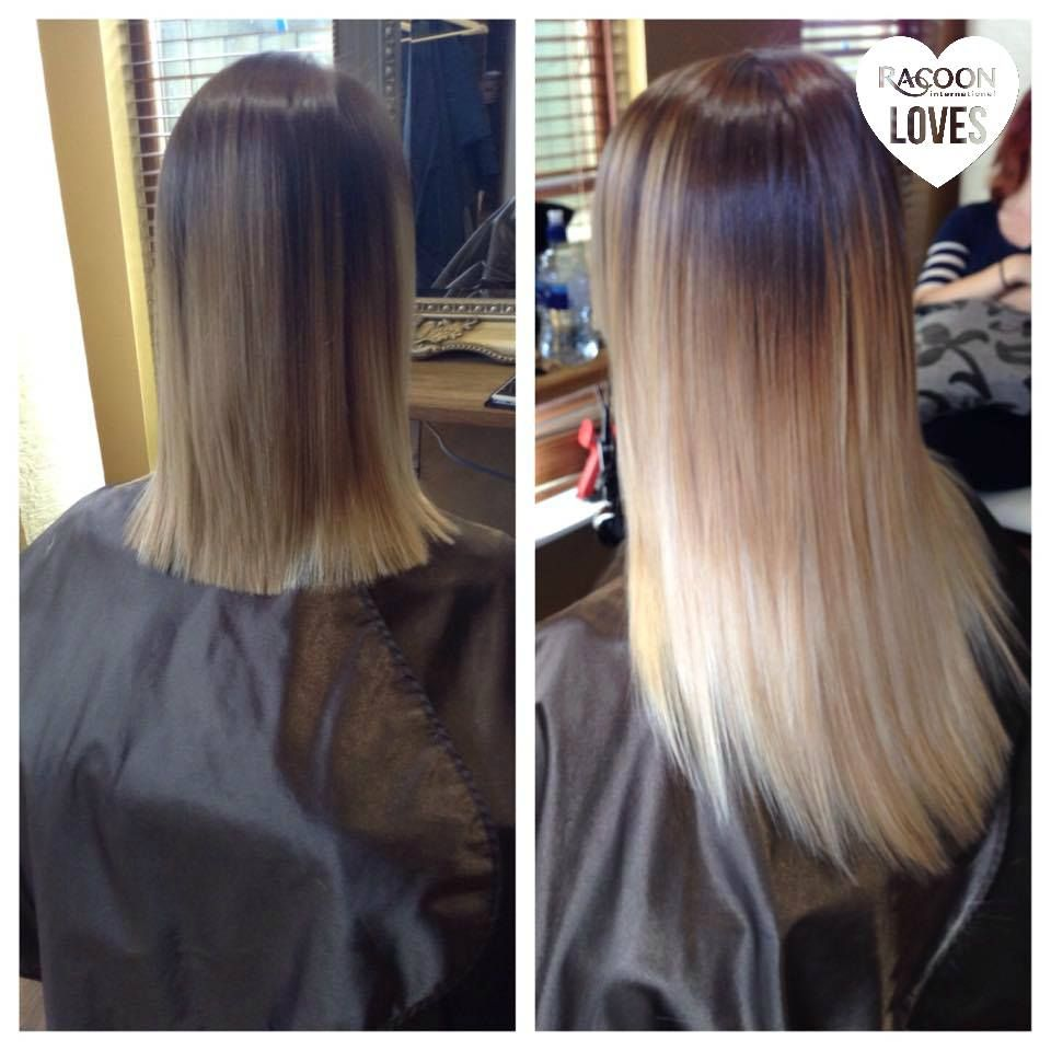 Racoon Extensions Before And After Hair Extensions Pinterest