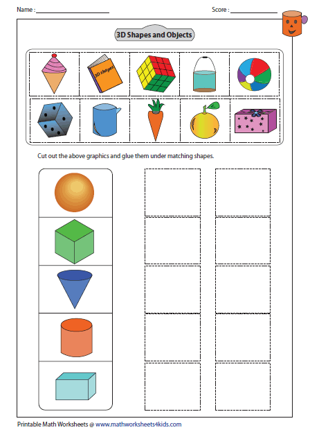 Solid 3d Shapes Worksheets Shapes Worksheet Kindergarten Shapes Kindergarten Shapes Worksheets