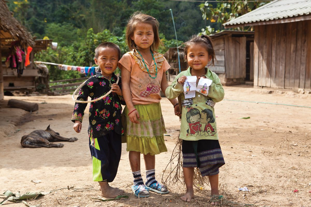 Thai children Laos, Thailand, Cambodia