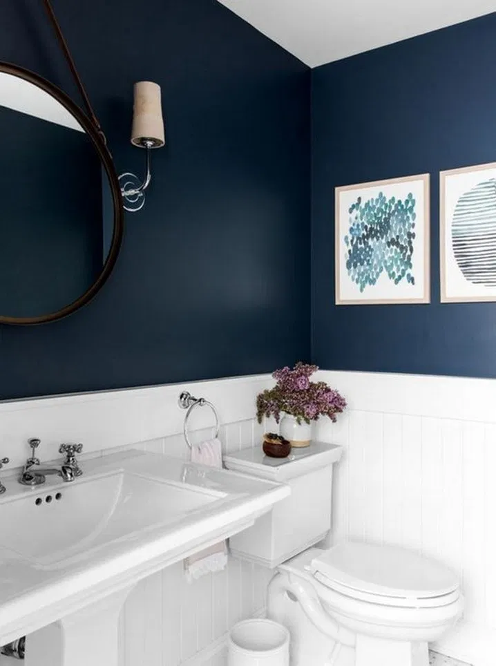 9 Navy Blue And White Bathroom 1 Relaxing Bathroom Decor