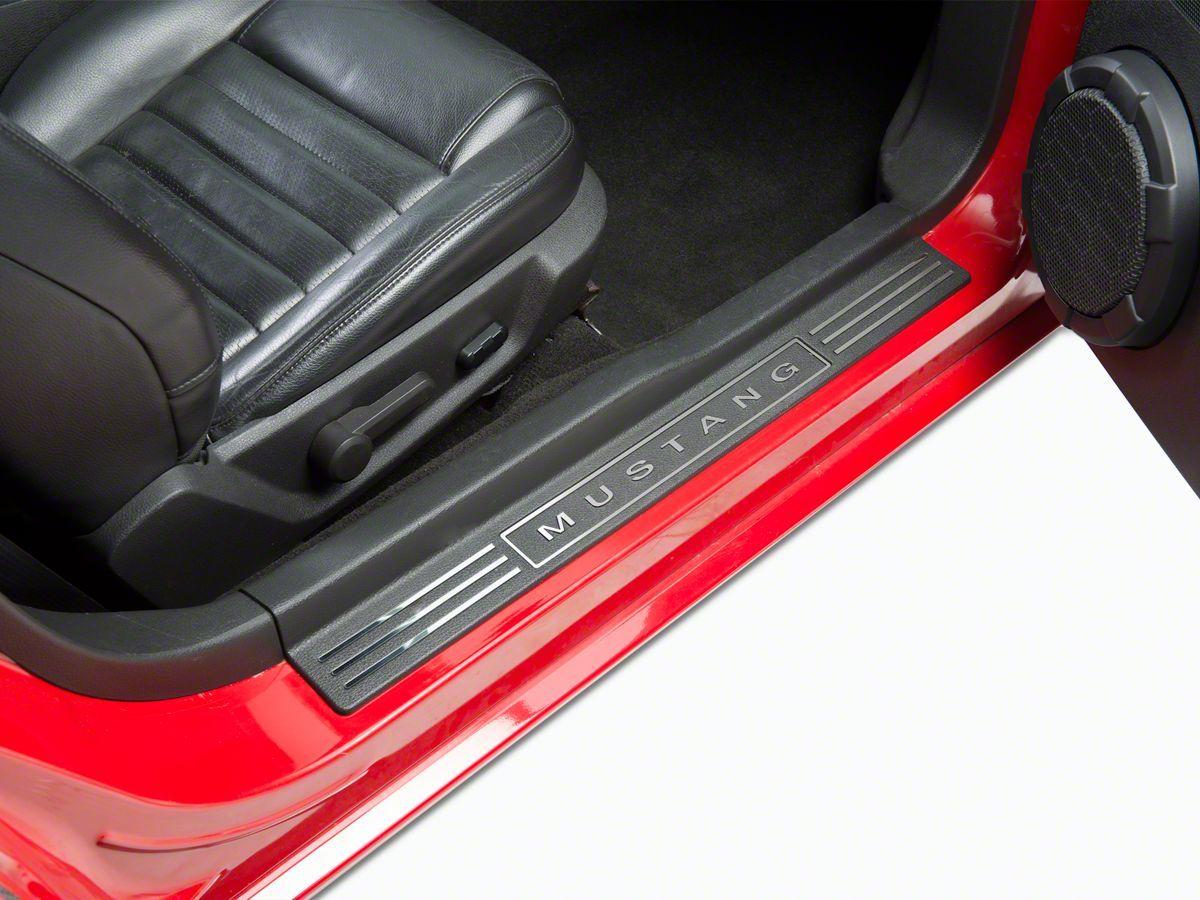 Speedform Mustang Chrome Door Sill Trim Inserts 74110 05 09 All Mustang Interior Mustang 2009 Mustang