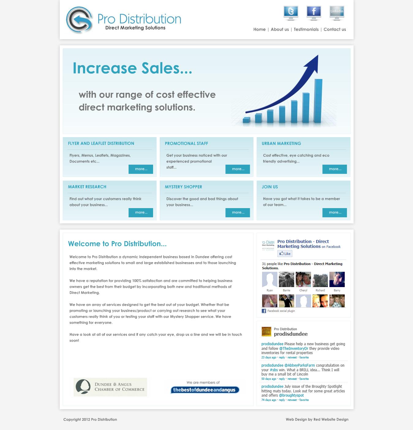 Pro Distribution Leaflet Distribution Website Design Web Design