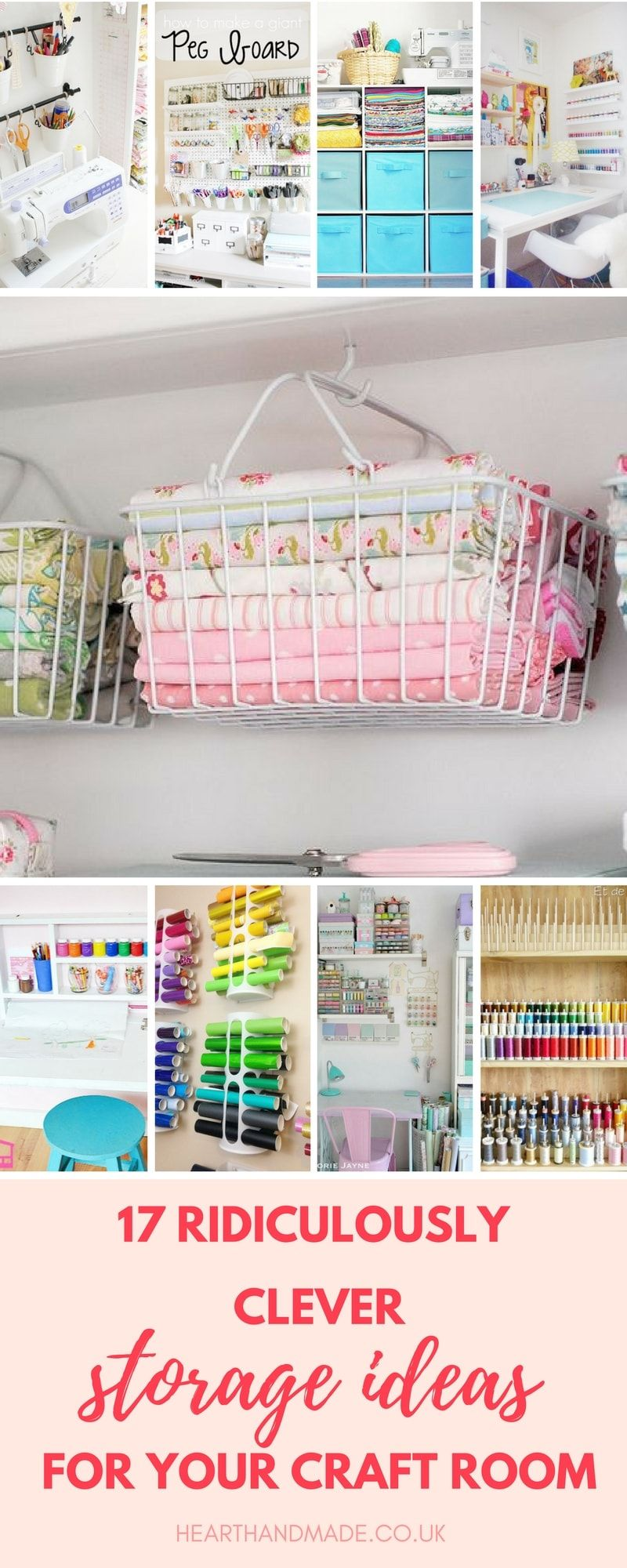 Discover 17 Ingenious Craft Room Storage Solutions! #storagesolutions