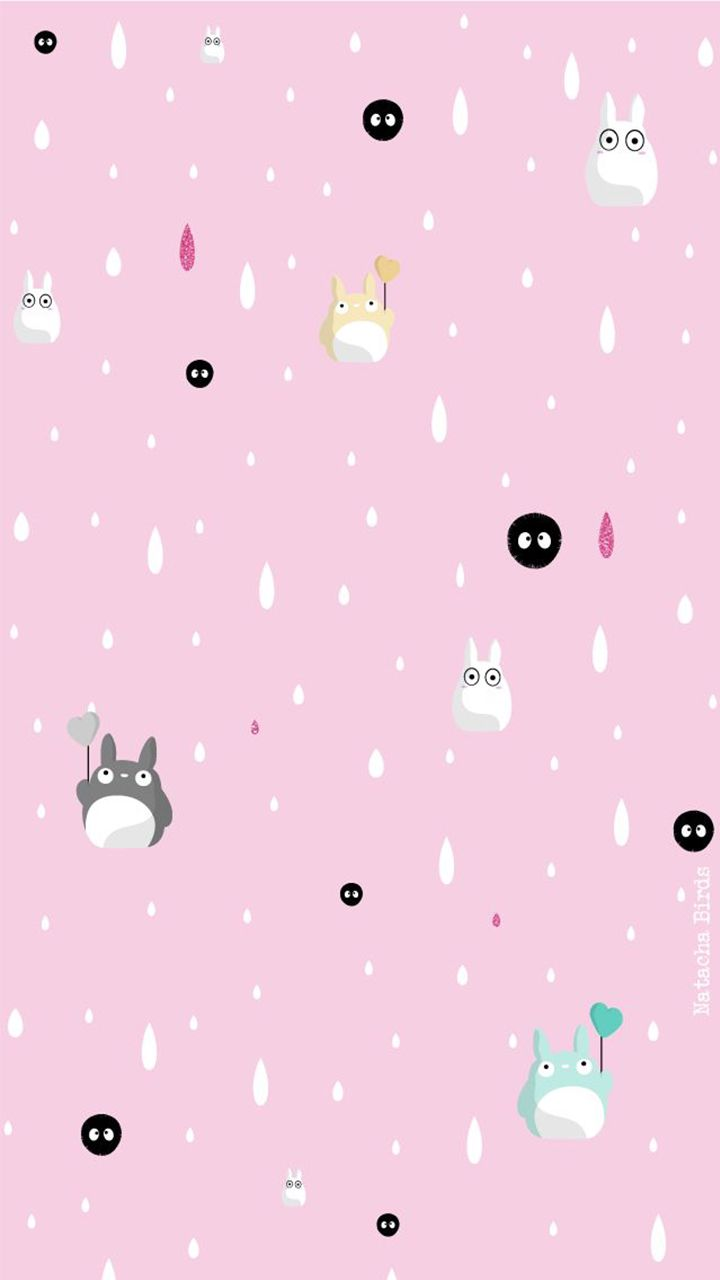 Wallpaper iphone totoro - Pink Totoro Iphone Background