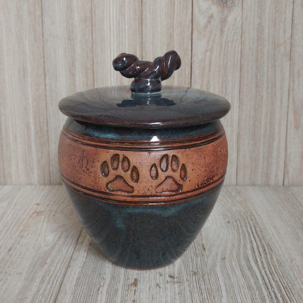 Handmade Ceramic 2 Paw Print Pet Urn(SOLD) Pet urns