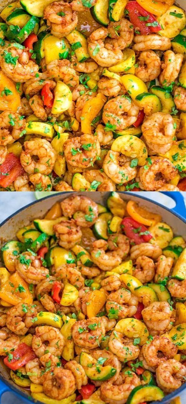 Easy Shrimp and Vegetable Skillet