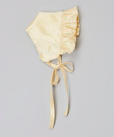Champagne Silk Bonnet by Victoria Kids Layette #zulily #zulilyfinds