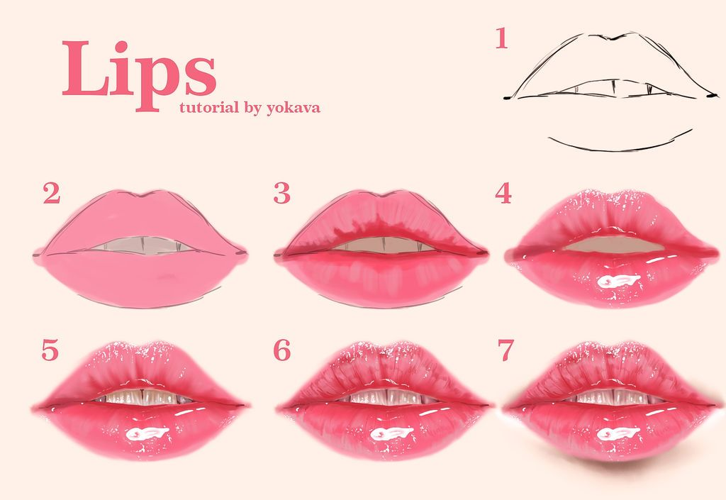 Pin By Ruby Le On Draw In 2019 Digital Painting Tutorials Lip