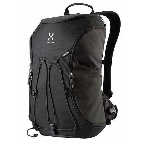 """Rucksäcke Corker Large    Der Haglöfs Corker Larger Tagesrucksack ist einer toller und flexibler Rucksack mit einer cleveren Öffnungsmöglichkeit an der Seite. der Rucksack kann ideal als Pendler-Rucksack eingesetzt werden und bietet ein extra Fach für einen 15""""-Laptop im Hauptfach. Der Rucksack wurde aus recyceltem Material hergestellt.    Ausstattung: Materialschlaufen  Damenmodell: uni  Einsa..."""