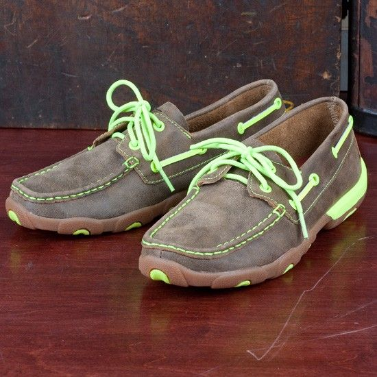 cfd91b02a2fa Twisted X Ladies  Lime Green Stitched Moccasin