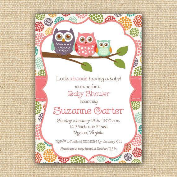 Owl Baby Shower Invitations Diy Printable