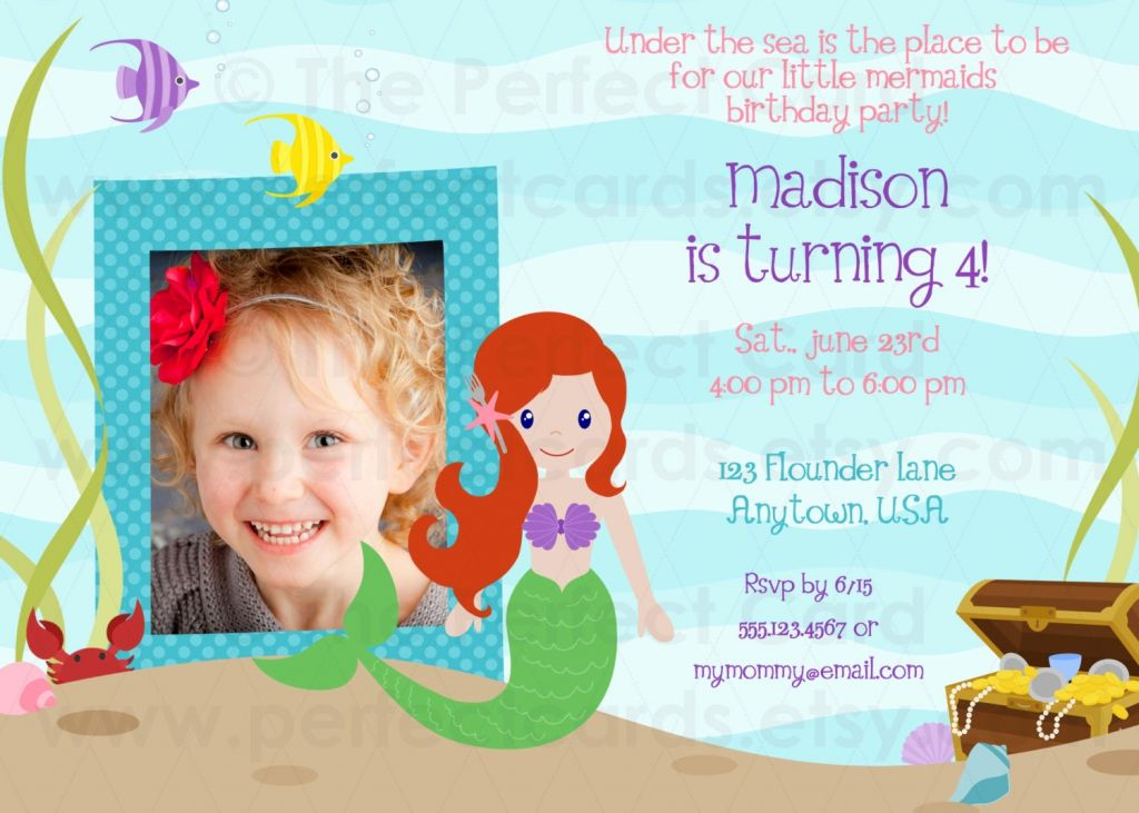 Under The Sea Birthday Invitations Wording Mermaid Birthday Invitations Birthday Invitation Templates Birthday Party Invitation Templates