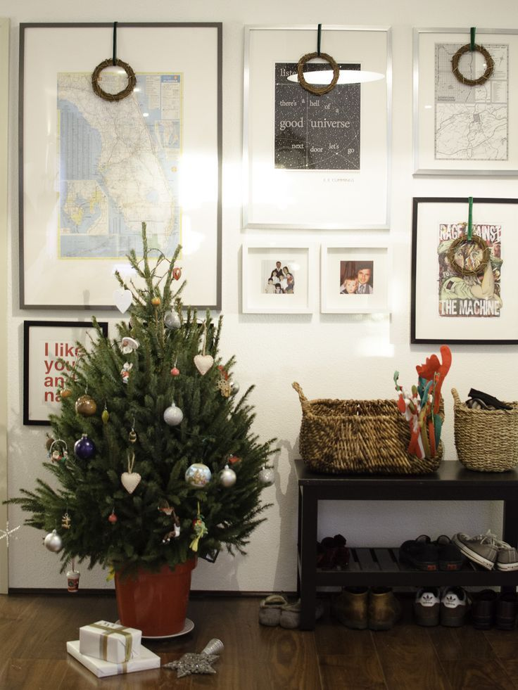 small potted Christmas tree | Modern christmas, Potted ...