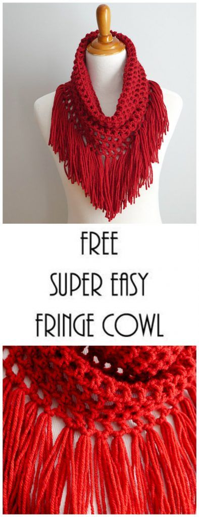 Crochet Fringe Cowl - Learn to Crochet #crochetscarves