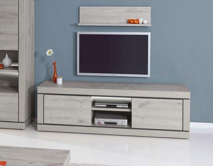 meuble tv contemporain couleur chene