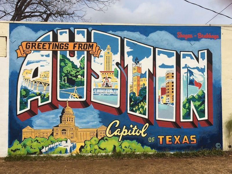 Greetings From Austin Yeehaw Austin Murals Visit Austin Austin Photos