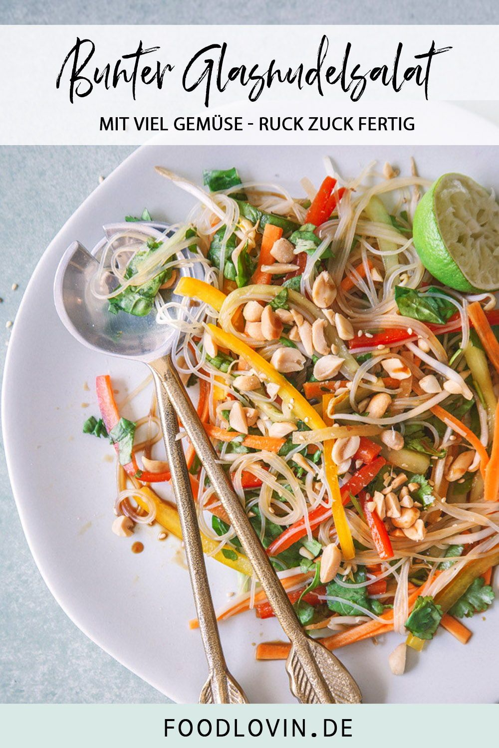Photo of Light glass noodle salad with peanuts