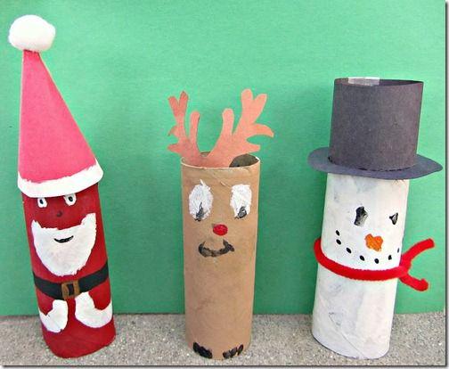 Manualidad navidad ni os papel higienico holidays - Manualidad ninos navidad ...