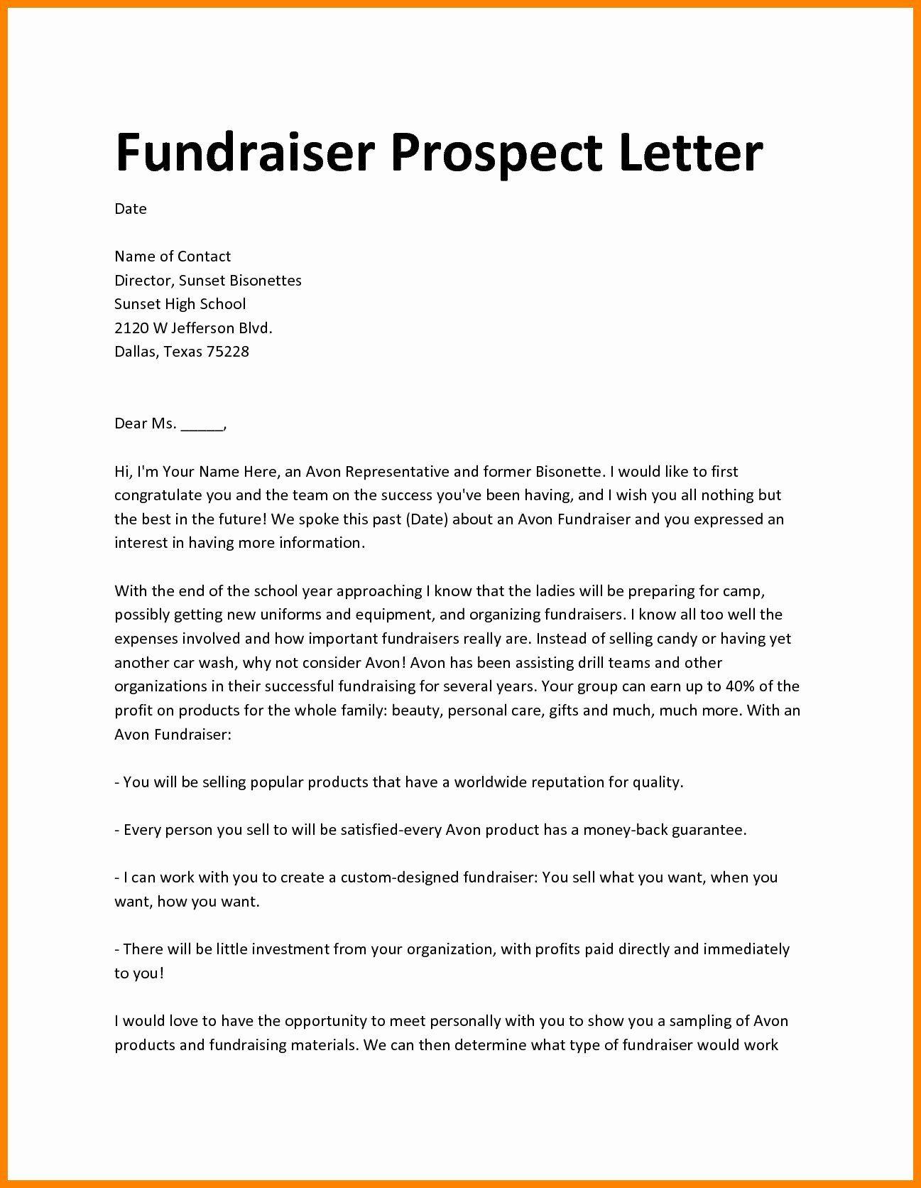 Fund raising letter templates beautiful fundraiser
