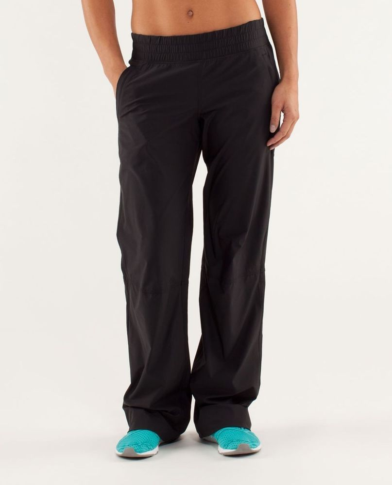 6547b683d85728 Lululemon Athletica Dog Runner Pants Womens Size 4 Black #fashion #clothing  #shoes #accessories #womensclothing #activewear (ebay link)