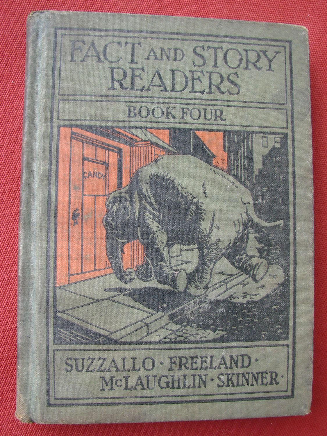 Vintage 1931 Fact and Story Readers Old School Reading Book. by thecherrychic via Etsy.