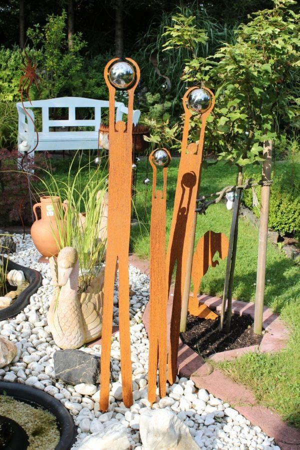 gartendeko-aus-metall-sehr-interessantes-aussehen Rostiges - gartendeko aus stein und metall