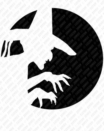 Pumpkin stencil wicked witch carving crafts by for Witch carving pattern for pumpkins