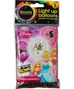 £3.39 Illooms Disney Princess Light-Up Balloons - 5 Pack ...