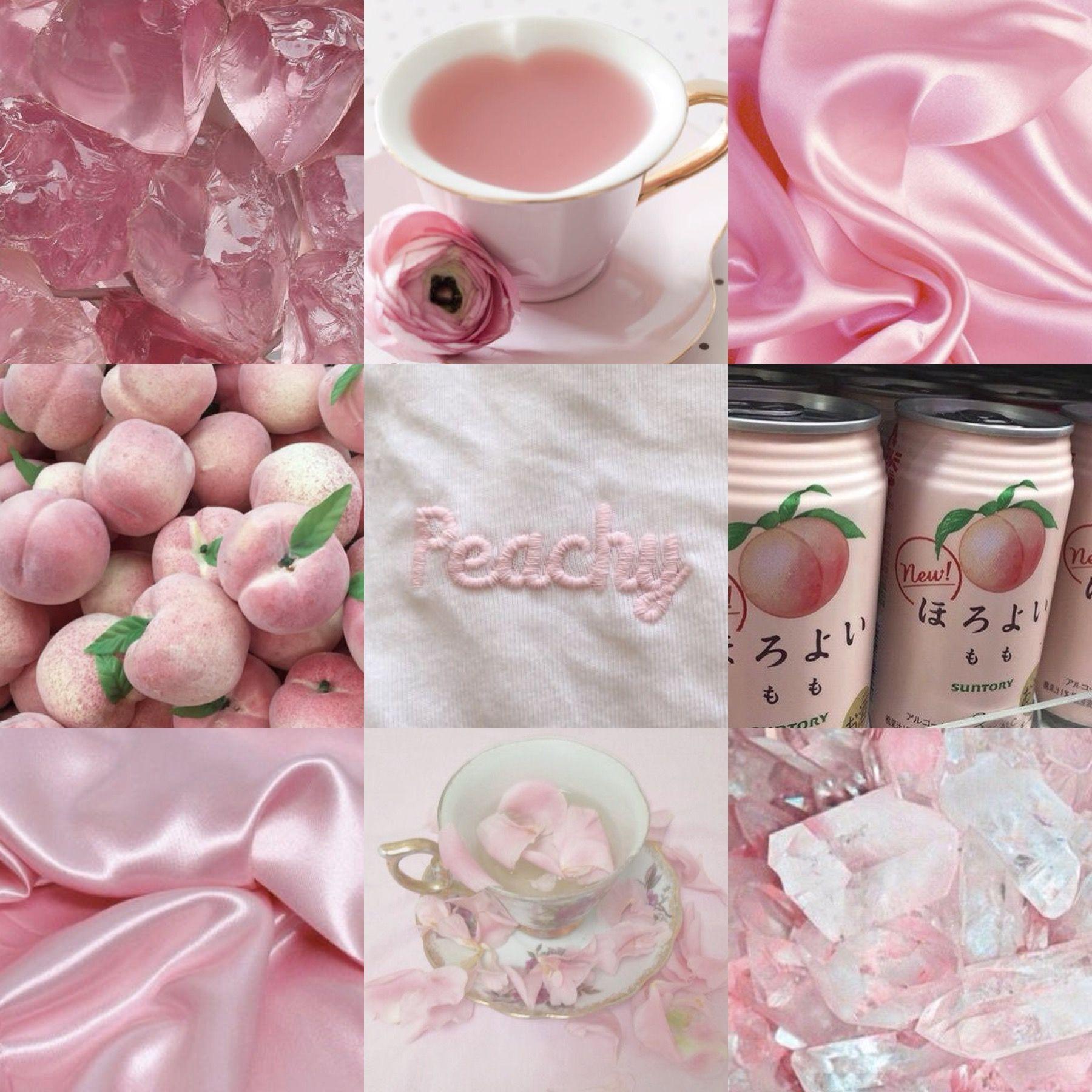 Peachy Pink Moodboard Aesthetic   p i n t e r e s t ...