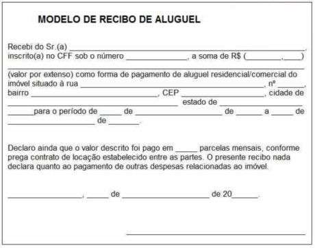 Modelo De Recibo De Aluguel Para Imprimir 15 Opcoes Em 2020