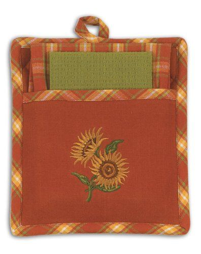 Sunflower Kitchen Towels Mitts | Sunflowers For The Kitchen