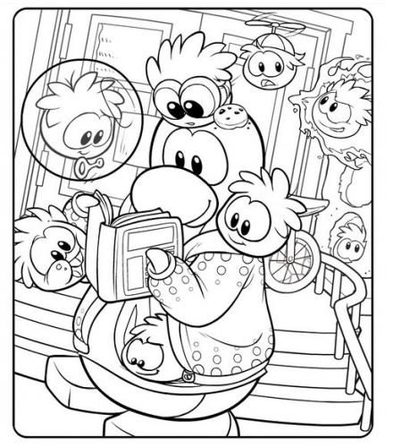 free pictures of club penguin coloring pages printable enjoy coloring - Penguins Coloring Pages Printable