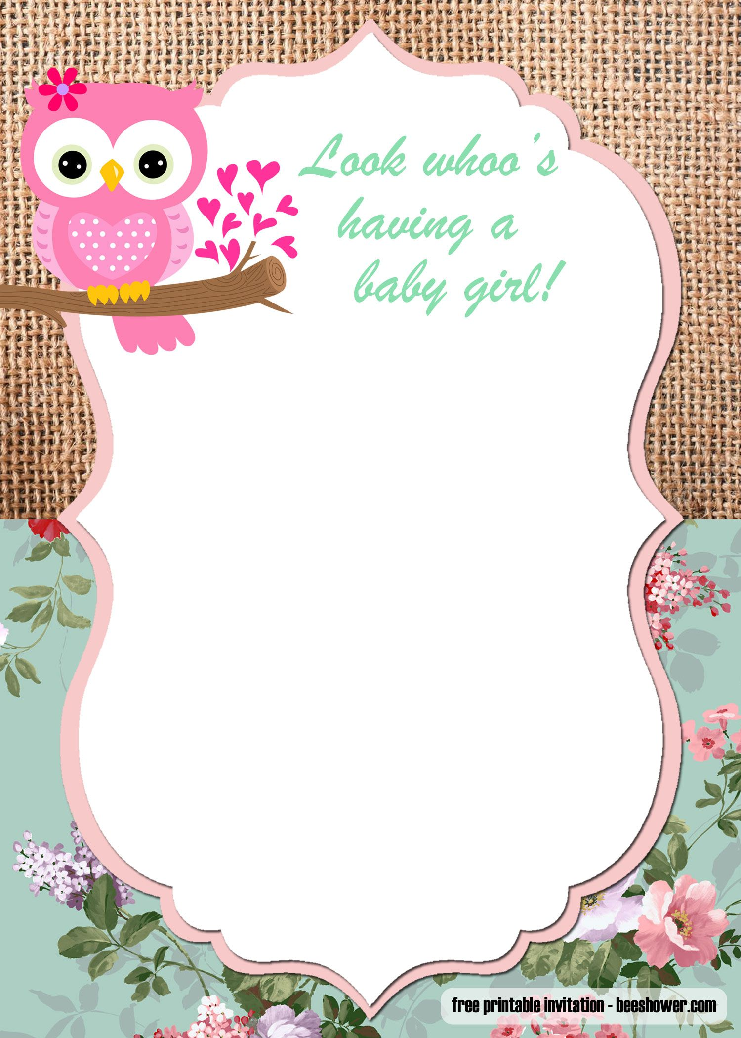 photo regarding Free Printable Owl Baby Shower Invitations identify Free of charge Printable Owl Little one Shower Invites Templates Totally free