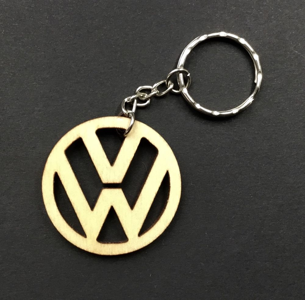 VW Key Ring Volkswagen Golf Up Passat Scirocco Wood Oil Finish ... 369914ba4