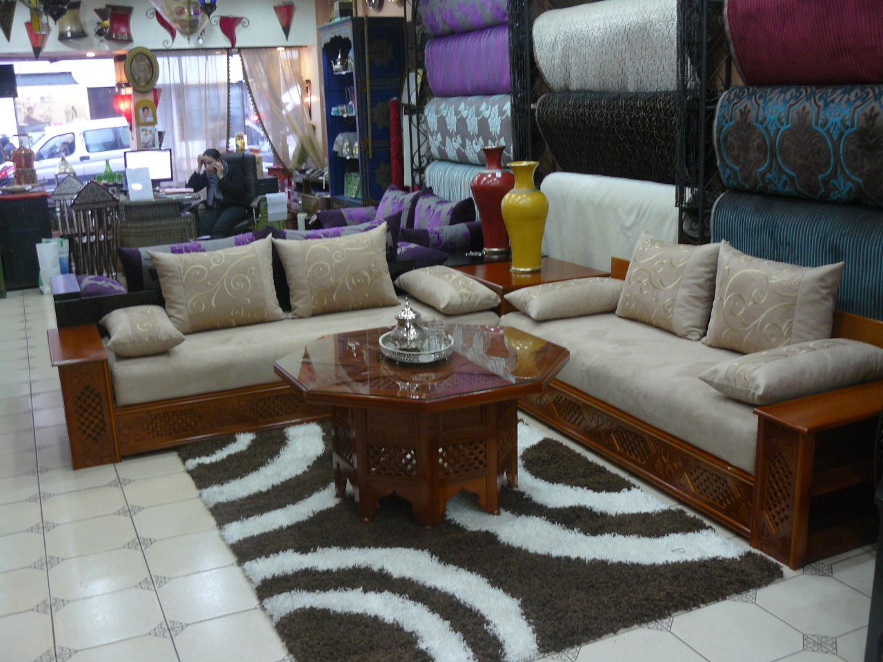 1000  images about salons marocains   moroccan living room on ...