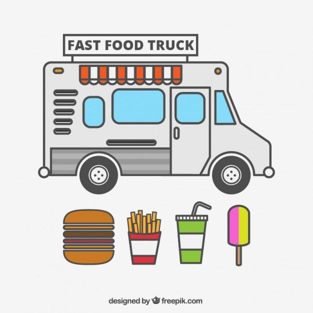 Food Truck Vector Free With Images Food Truck Food Truck