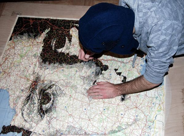 Human Portraits Hidden in the Topography of Maps