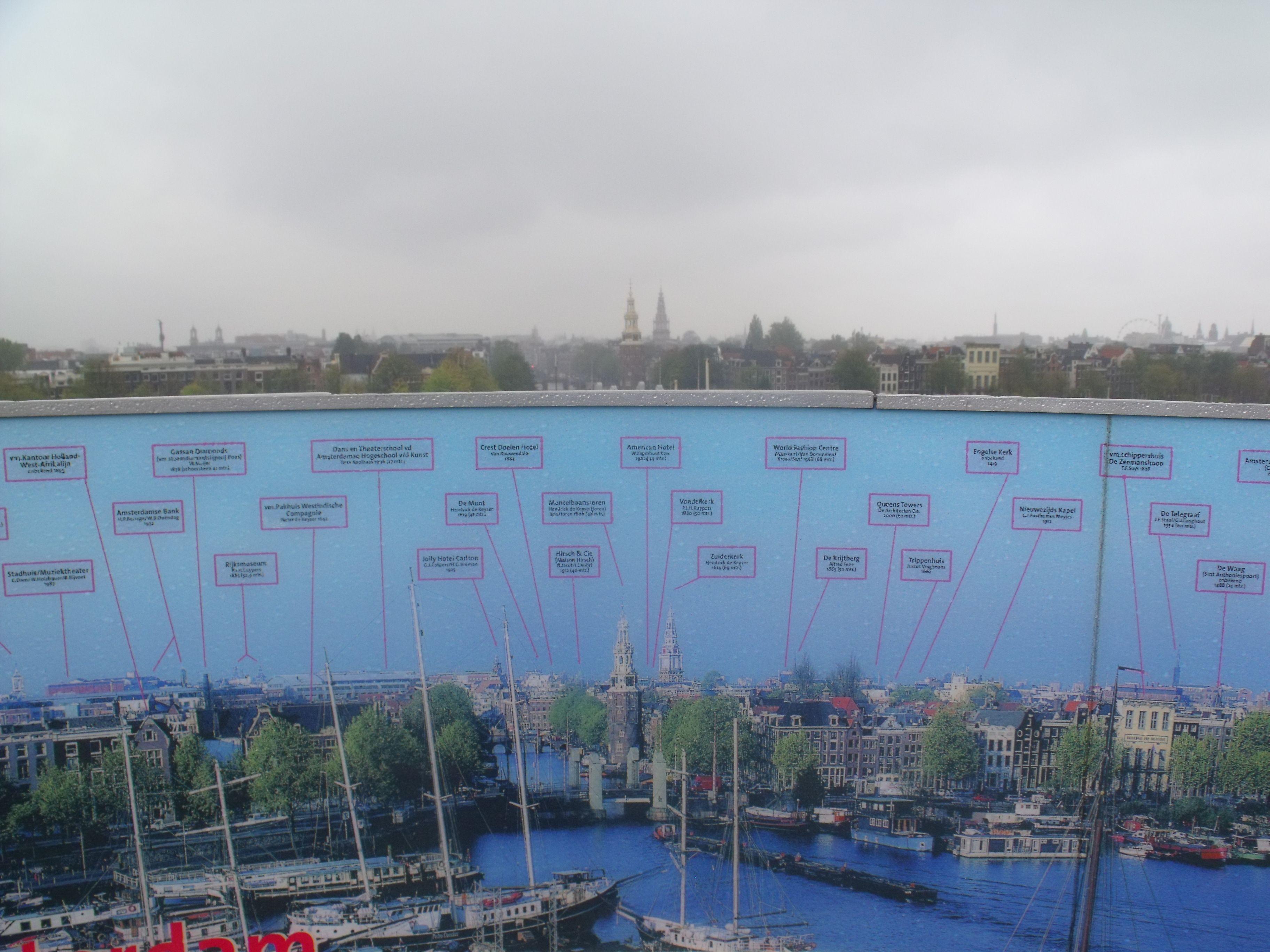 Amsterdam - Foto tirada na escadaria do NEMO - Renzo Piano