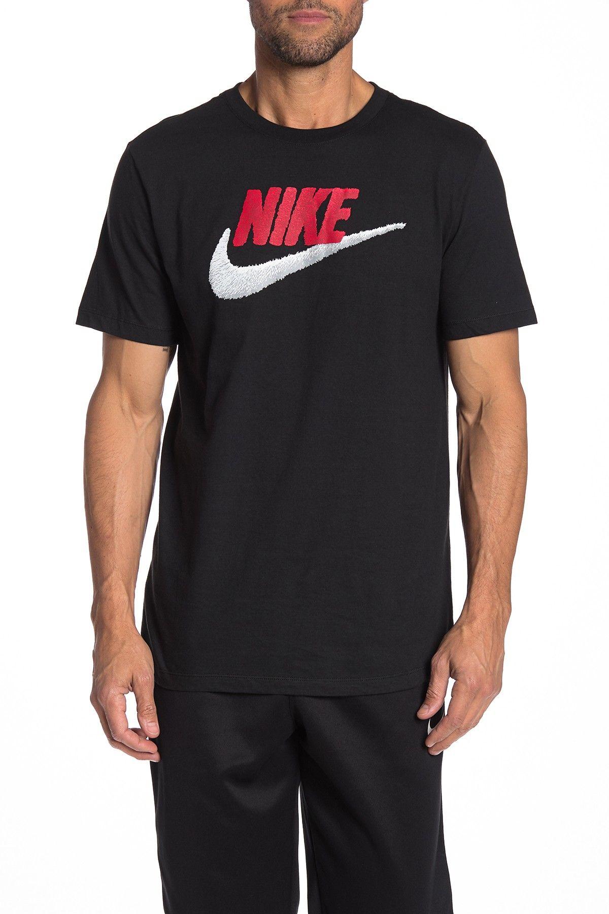Swoosh Logo Tshirt In Black/white Tshirt logo, Nike