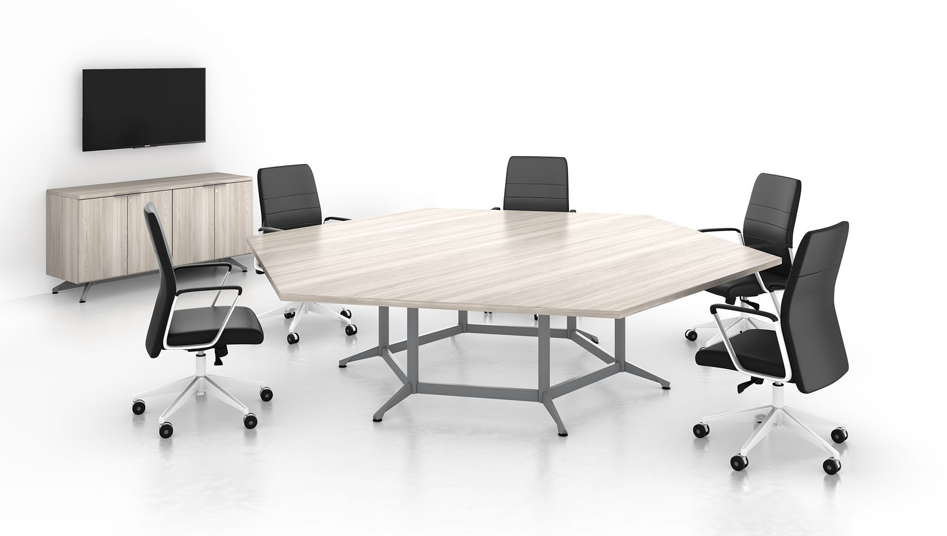Enwork Zori Hex Conference Table Conference Table Table Home Decor