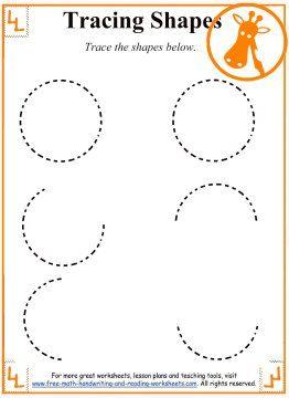 tracing shapes worksheets and activities matematika matematika. Black Bedroom Furniture Sets. Home Design Ideas