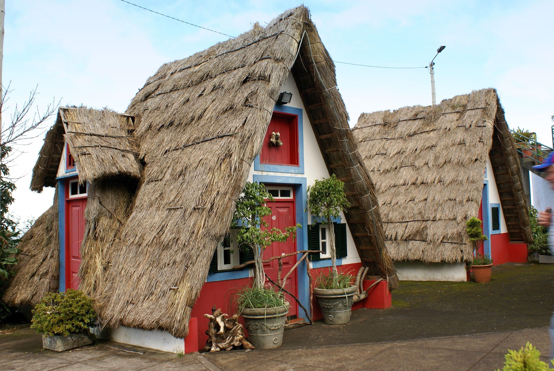 Traditional houses near Santana - Madeira, Portugal